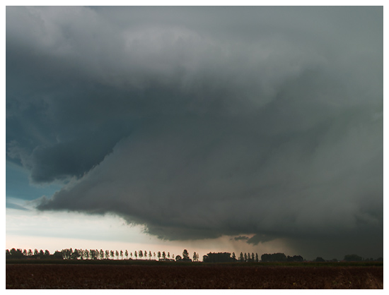 Rapprochement significatif du nuage mur du lieu d'observation. Crédit photo : Samina Verhoeven